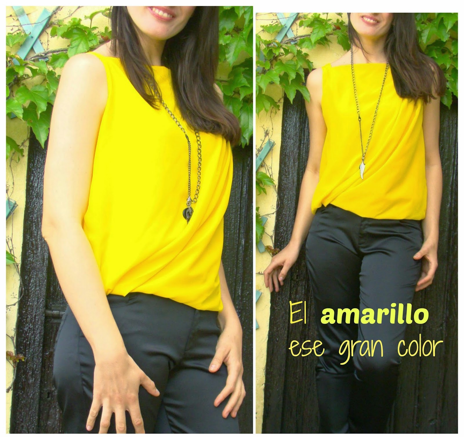 El color amarillo presente en el blog