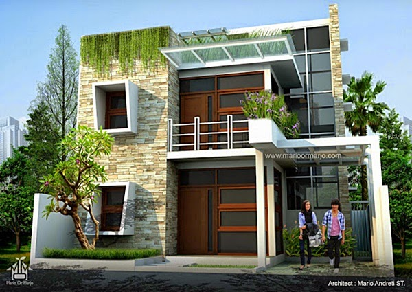 rumah minimalis kaca