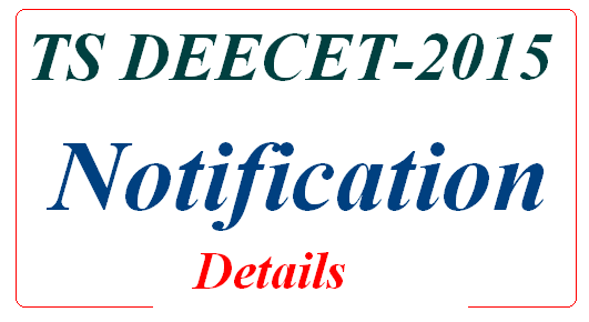 DIETCET, DEECET-2015 TTC Notification
