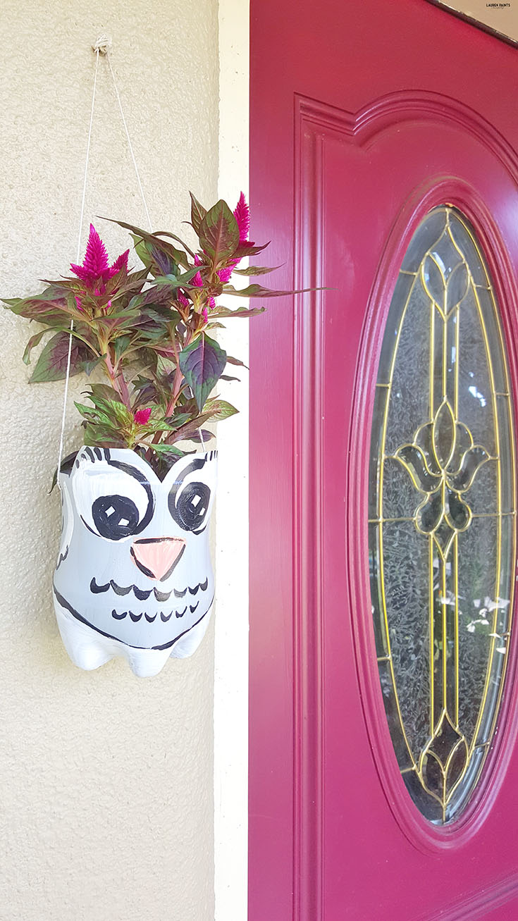 Who would have thought an old soda bottle could be so green? Check out how you can upcycle your Dew into something you can Do Yourself with this super simple fox and owl hanging planter project!