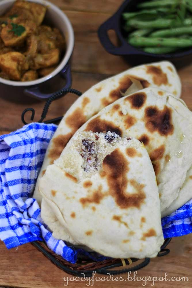 Goodyfoodies recipe peshwari naan indian the recipe i am using for the peshwari naan is similar to the basic naan with a few additional steps for the filling you can use a food processor to make forumfinder Images