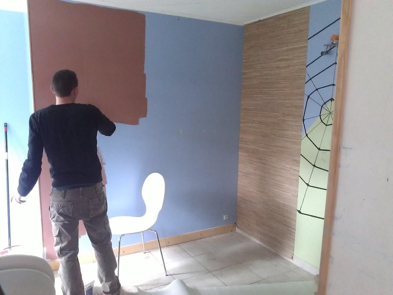 Papier peint vinyle PAILLE JAPONAISE coloris beige kraft - Murs