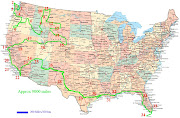 . and Mexico north to the south. One of the states, Alaska, . (road map of usa pictures)