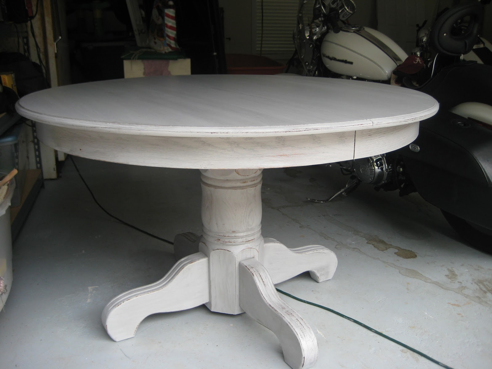 content in senoia gray distressed table