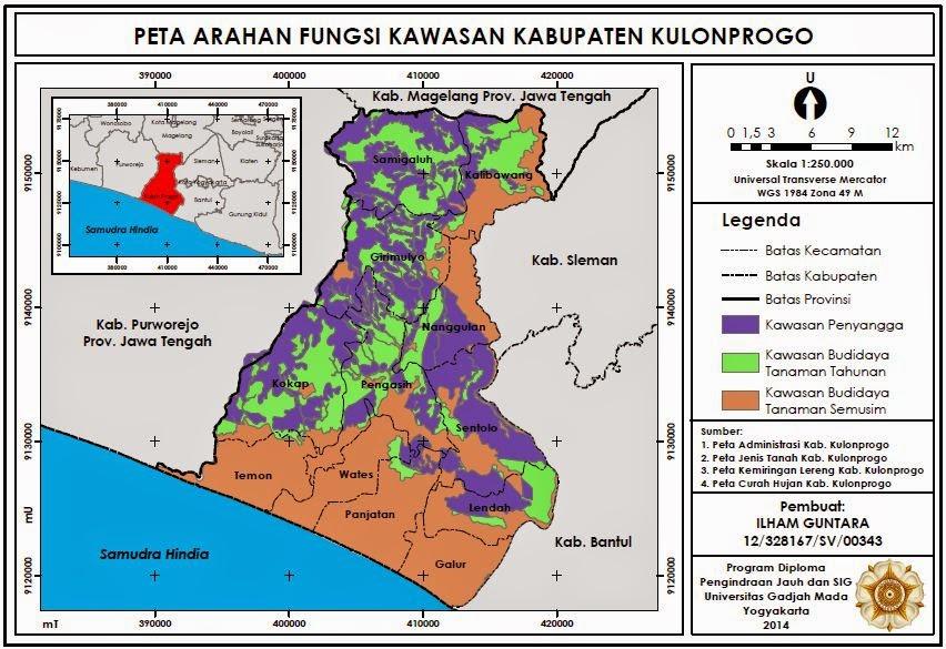 Contoh Peta Arahan Fungsi Kawasan Kabupaten Kulonprogo www,guntara.com
