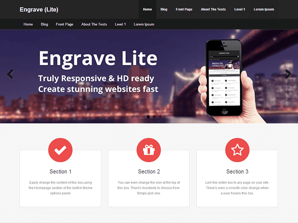 Engrave lite - free business creative corporate theme