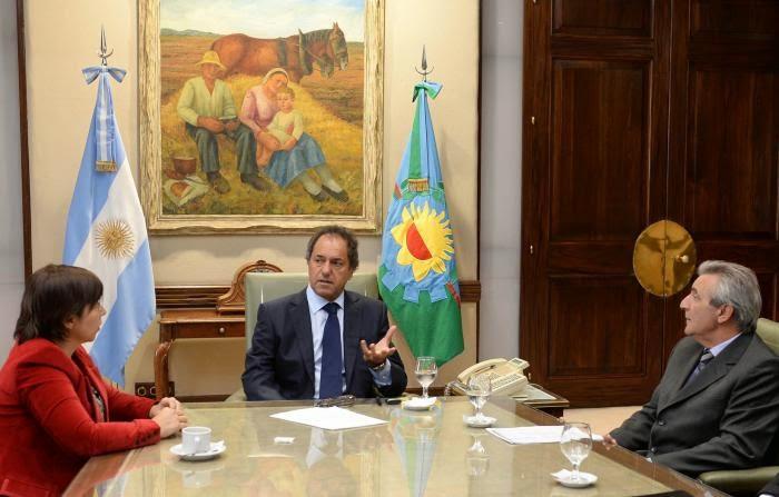 Scioli evaluó avance de obras con autoridades de la Cámara de la Construcción