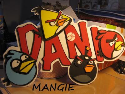 Letrero nombre Angry birds goma eva