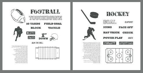 Stampin' Up! Football & Hockey themed digital downloads