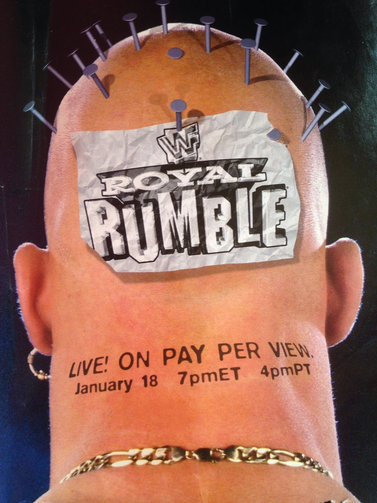 WWF MAGAZINE - JANUARY 1998 - Stone Cold Steve Austin Royal Rumble Poster