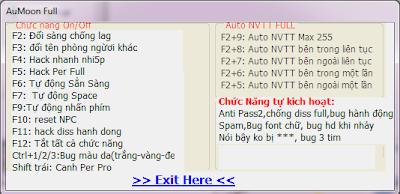 AuMoon 6129 - hack au 6129 miễn phí: auto nvtt, hack per