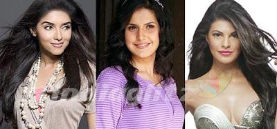 Asin, Jacqueline Fernandes and Zarine Khan