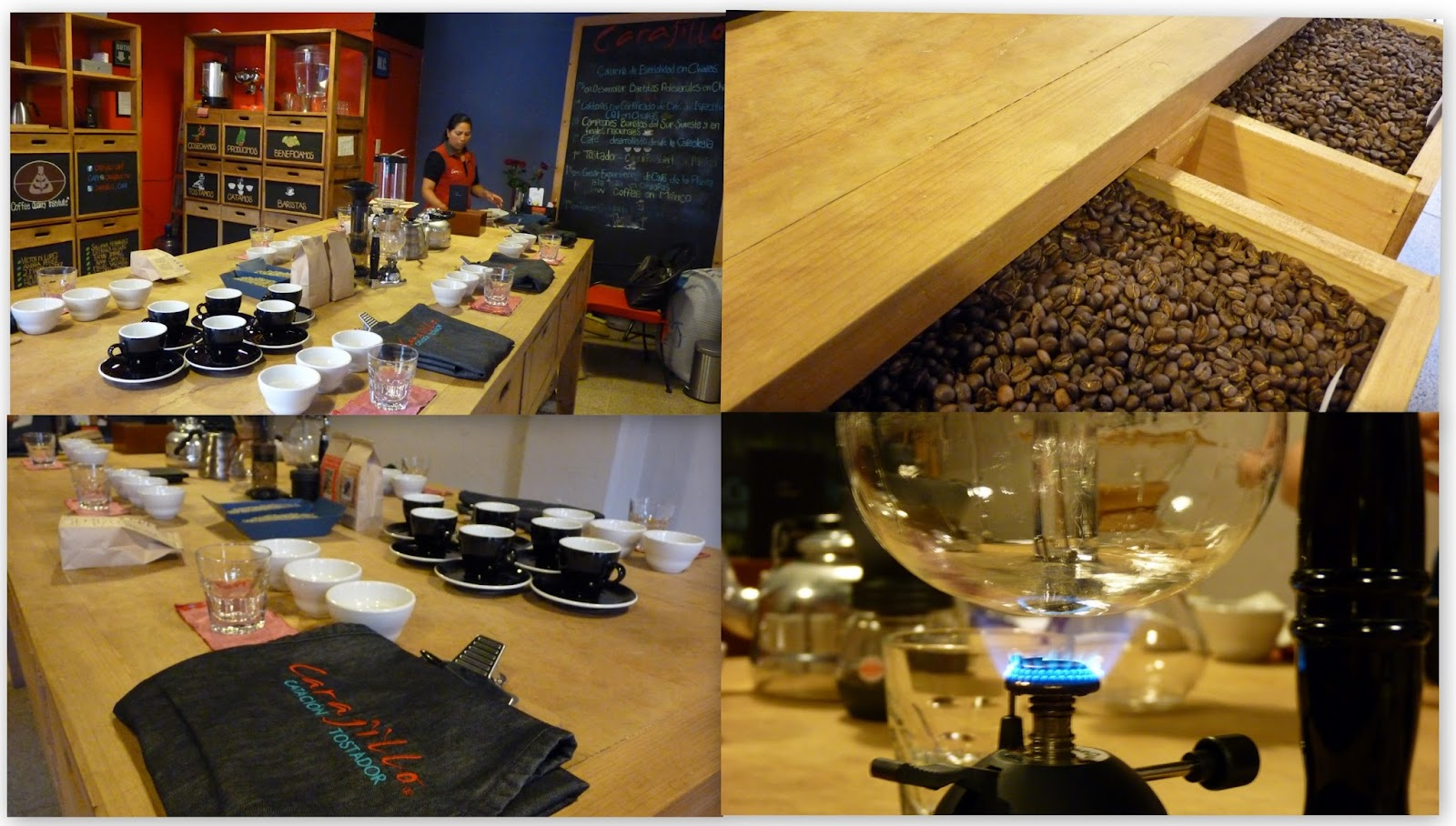 Cata de café en Carajillo Café