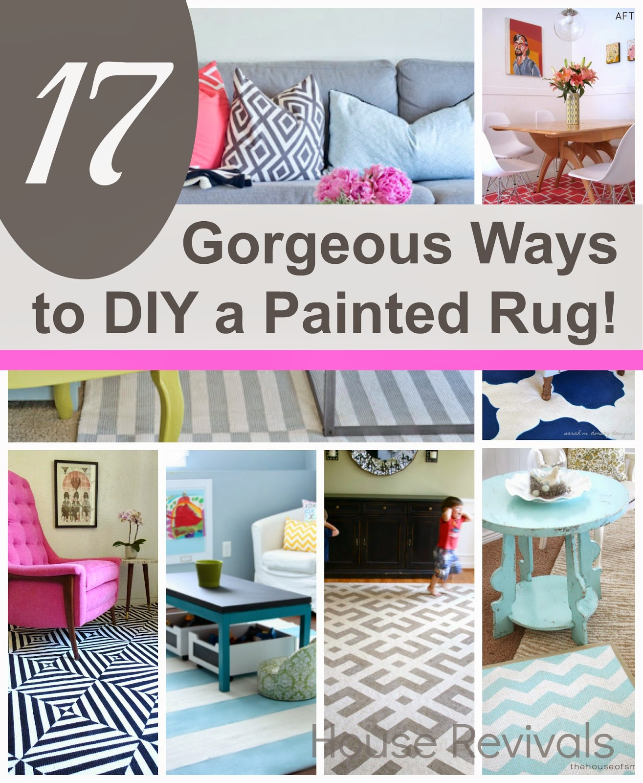 High Quality {17} Absolutely Gorgeous Painted Rugs To Inspire You!