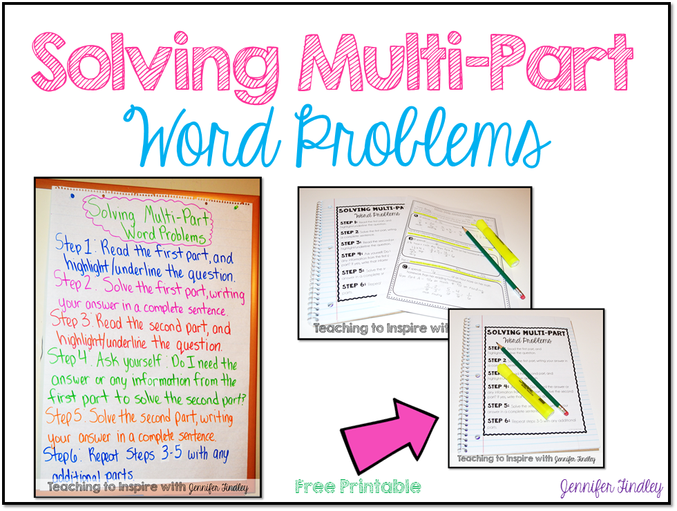 steps to problem solving in math