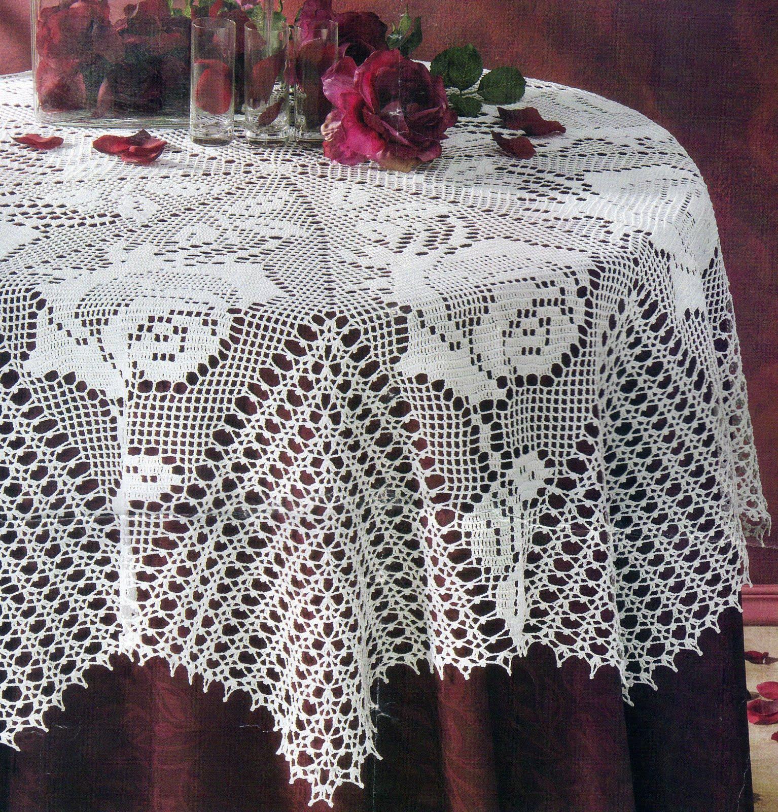 Mantel De Crochet - Hermosos Diseños De Casas - Phusa.net