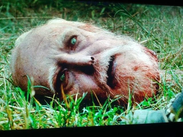 The Walking Dead 4x09 - Impactante Escena del Episodio Filtrado y Capturas (Spoilers) Hershel+head