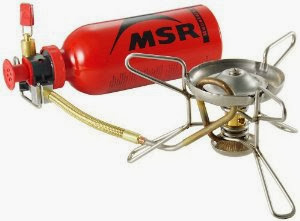 The MSR whisperlite stove - great for winter trips