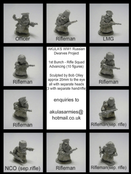 1st Bunch - Russian Dwarves Rifle Squad (10 Figures)