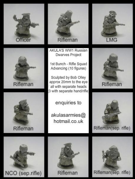 1st Bunch - Russian Dwarves Rifle Squad (10 Figures)