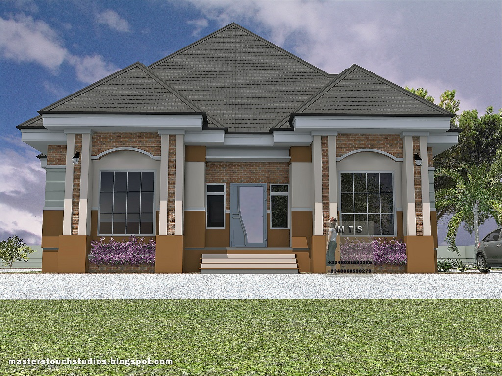 3 bedroom bungalow residential homes and public designs for Four bedroom bungalow