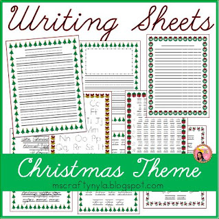 Christmas Writing template