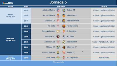 jornada 5 liga