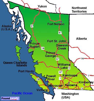 Map Of Kamloops British Columbia
