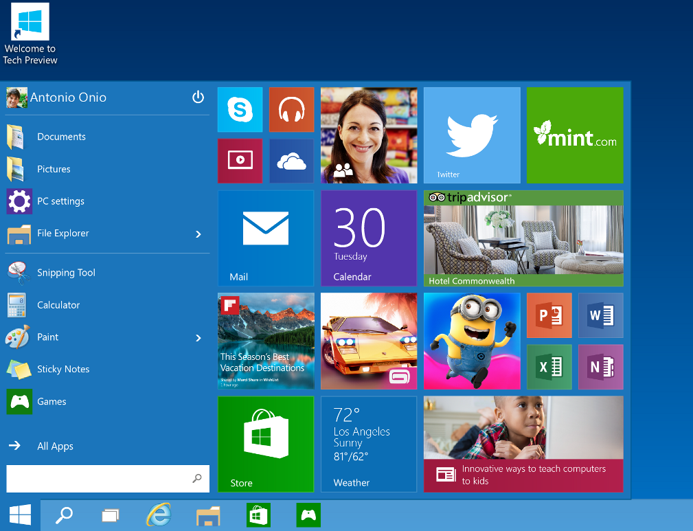 Classic Start Menu is back in Windows 10