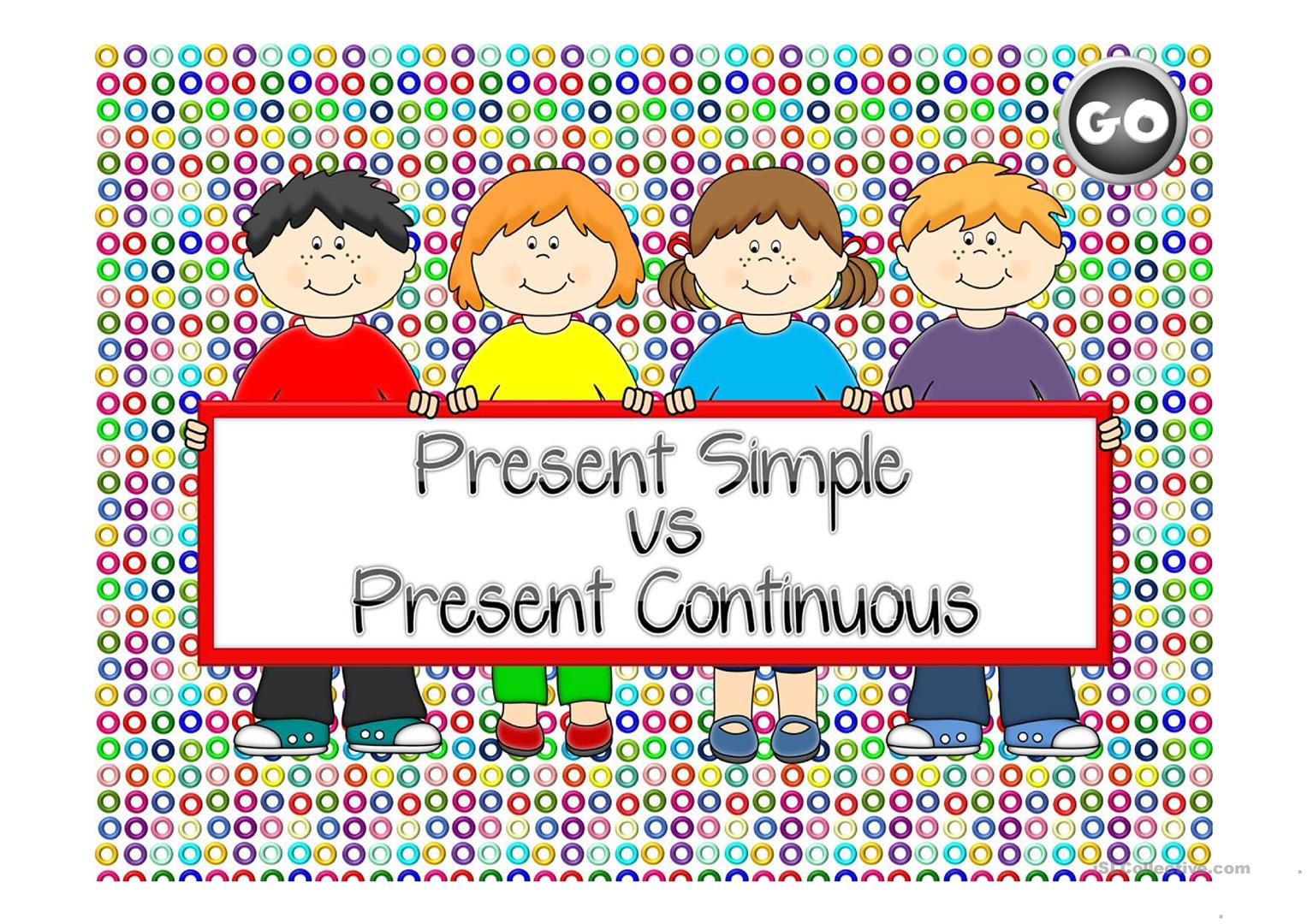 PRESENT SIMPLE & CONTINUOUS GAME