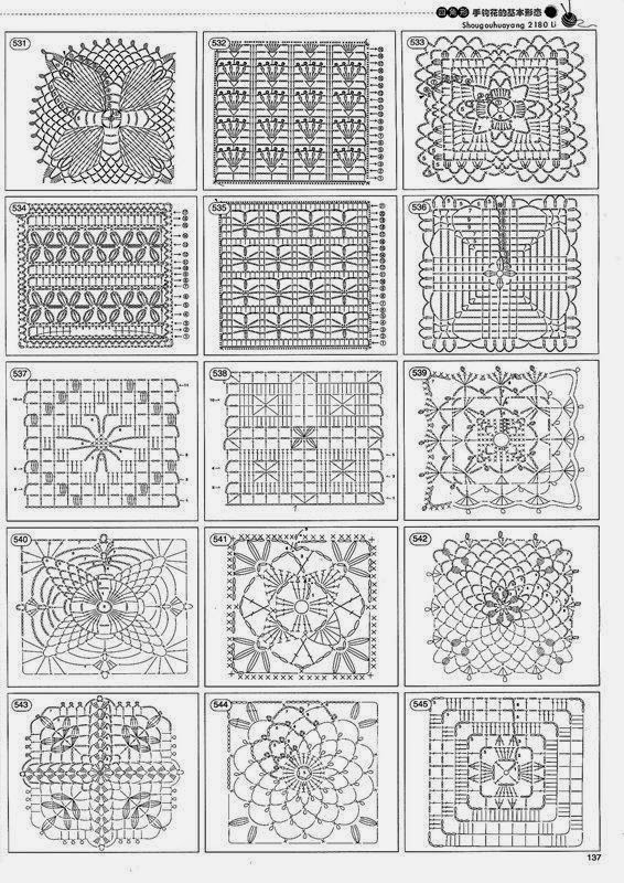 коллекция всех схем узоров