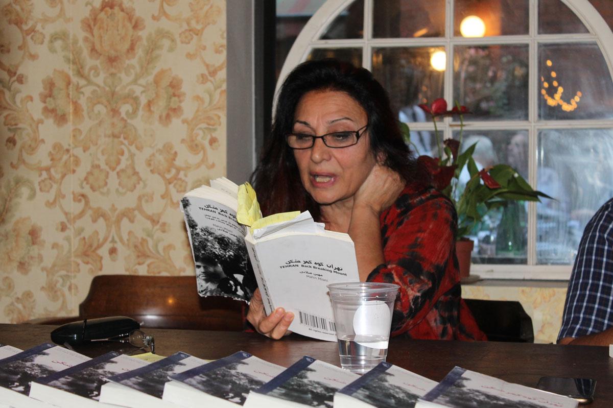 "رونمائی کتاب "" تهران کوه کمر شکن "" نوشته ی "" مهین میلانی "" در مونترال"