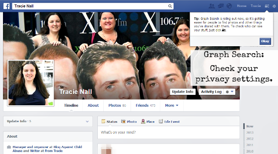 Facebook Graph Search notification