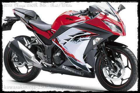 2013 Ninja 250R Red/White Color Special Edition
