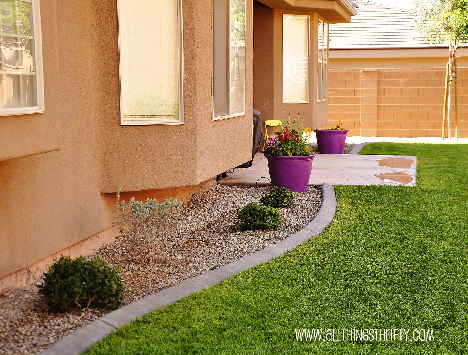 Backyard design finishing the details for Landscaping around house