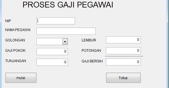 ProjectX.ID: Aplikasi Perhitungan Gaji Pegawai ( Fungsi IF ...
