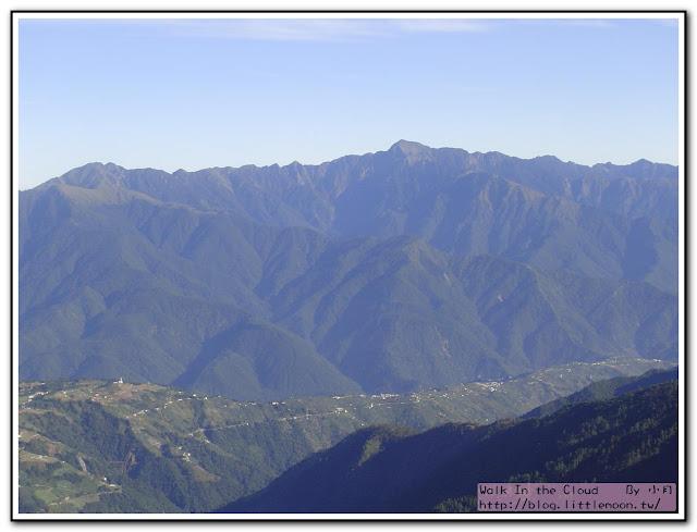 合歡山美麗的山脈
