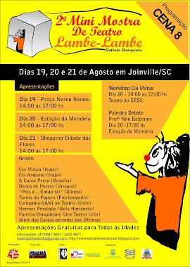 Cartaz Mostra em Joinville - SC