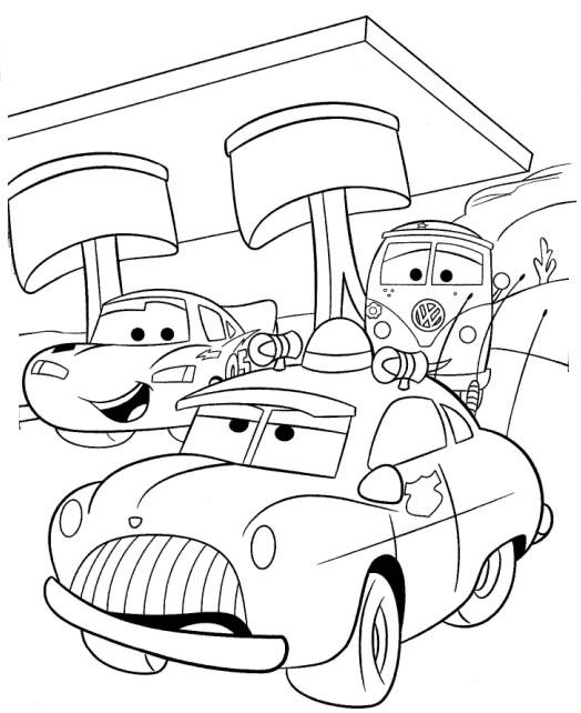 Páginas para colorir Carros Carros Relâmpago Mcqueen  - imagens para colorir do relampago maquin
