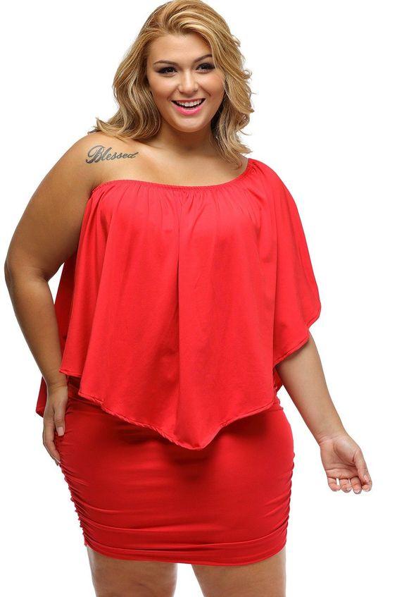Vestir de rojo siendo gordita