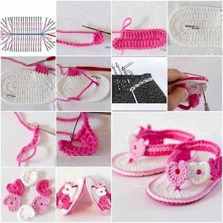 Sandalias Tejidas, Crochet Facil