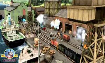 Grand Gordon Thomas and friends Bash Dash and Ferdinand logging locomotive engine Island of Sodor