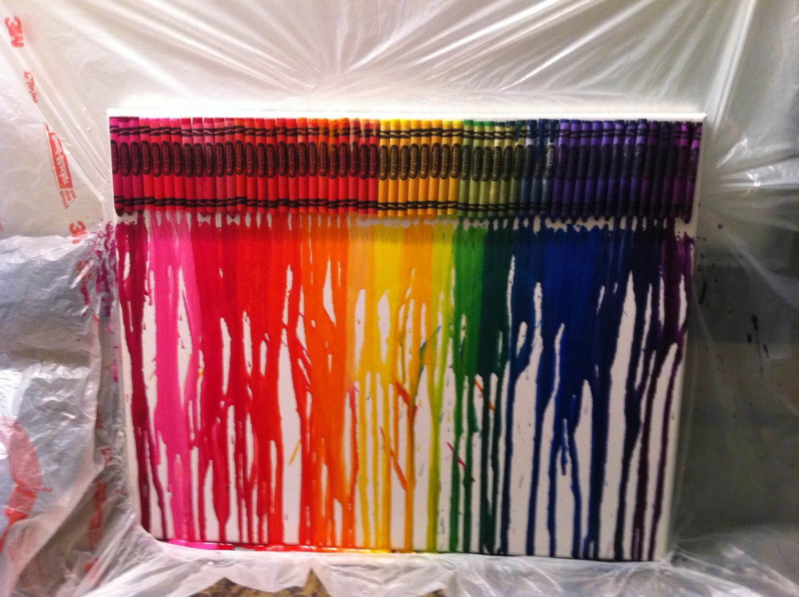 Classroom diy diy melted crayon canvas for How to make a melted crayon art canvas