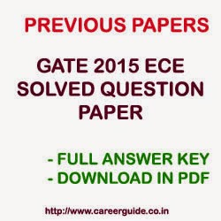 Download GATE 2015 ECE Question Papers with Complete Solution and Answer Key in PDF