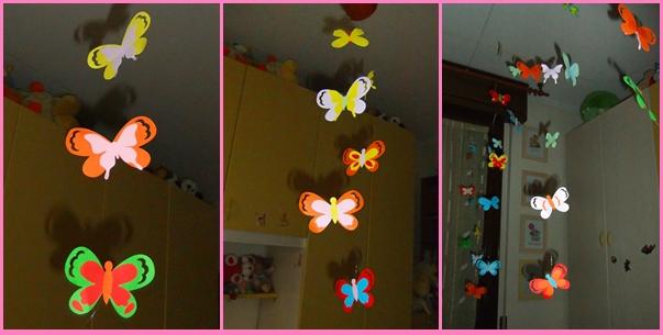 Studiamando liberamente: Decorazioni primaverili: farfalline colorate