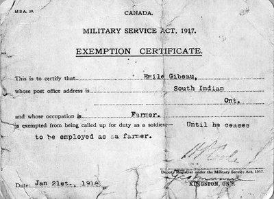 THE CONSCRIPTION CRISIS OF 1917