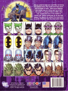 Back of the Batman jumbo coloring and activity book featuring the Joker