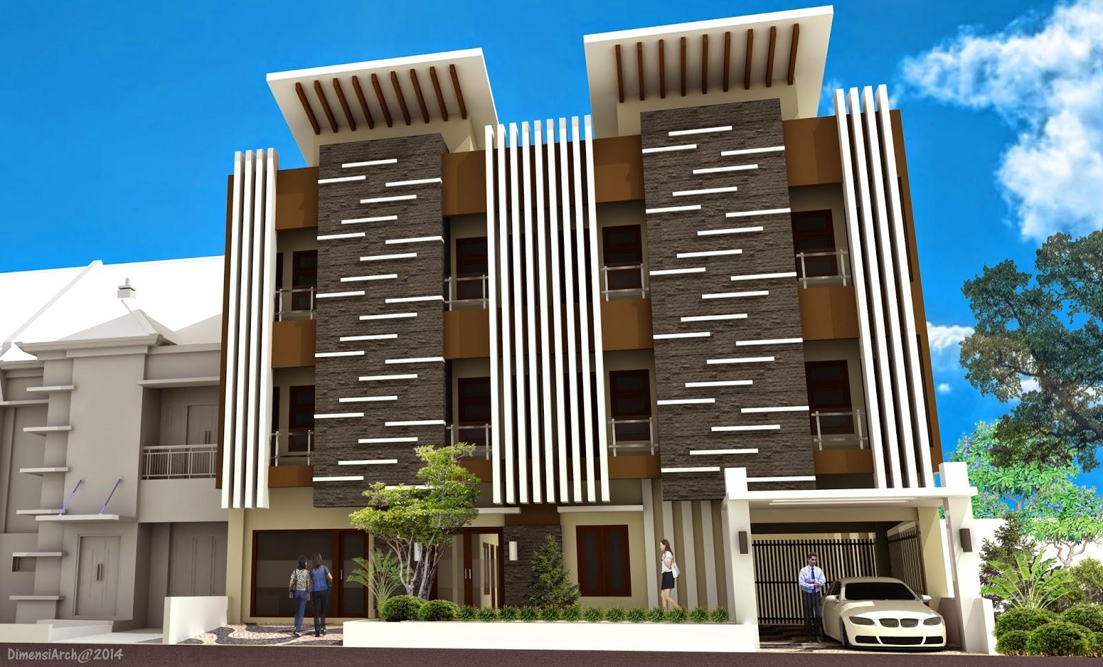 gambar desain rumah kost minimalis 3 lantai terbaru   desain rumah