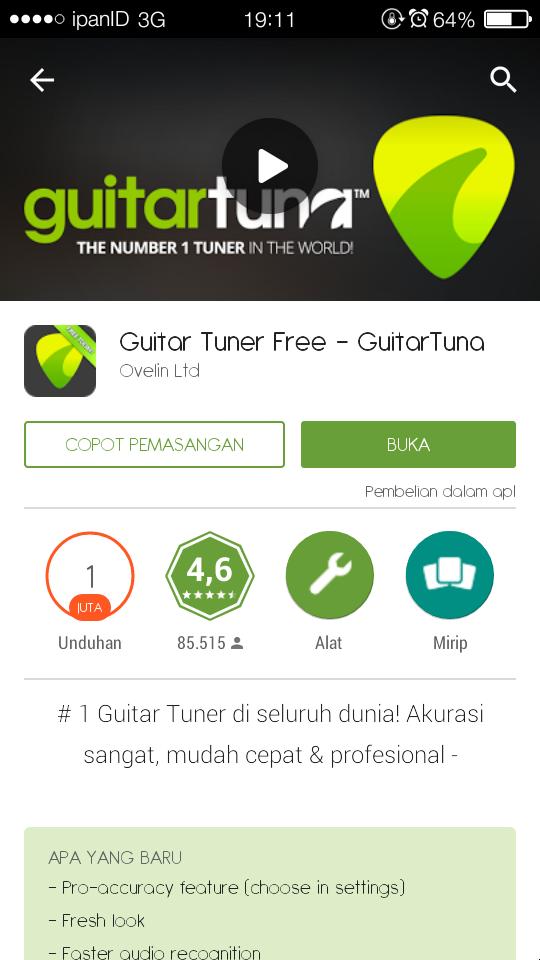 Proses Perjuangan Hidup Disurabaya Menjajal Aplikasi Guitar Tuna