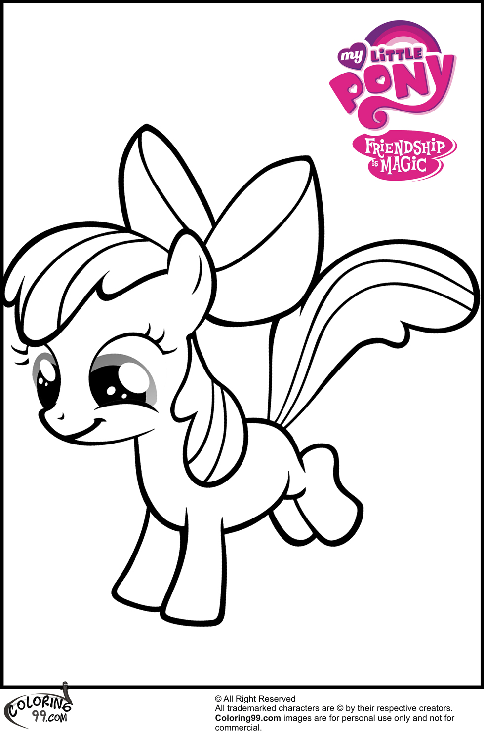 My Little Pony Apple Bloom Coloring Pages